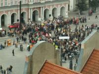 Demonstration der Angestellten der Stadtverwaltung Rostock