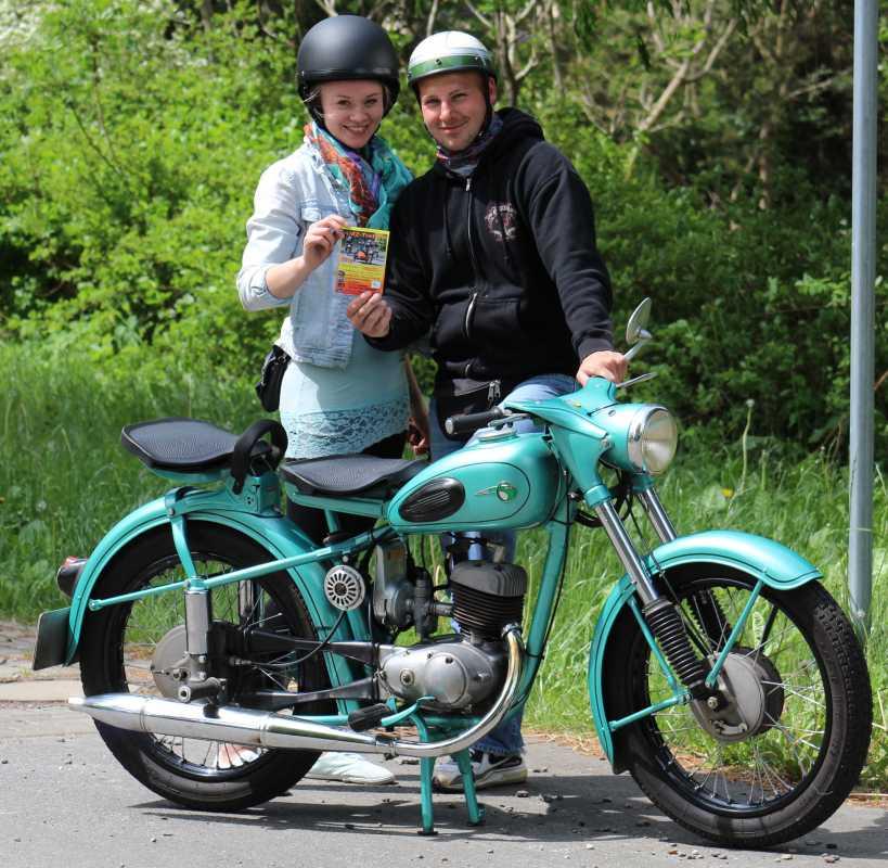 MZ-Freunde beim 19. Bikergottesdienst 2016 in Bad Doberan
