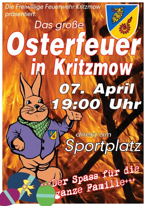 Osterfeuer in Kritzmow