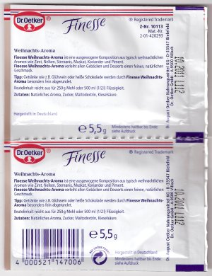 Dr. Oetker Finesse Weihnachts-Aroma