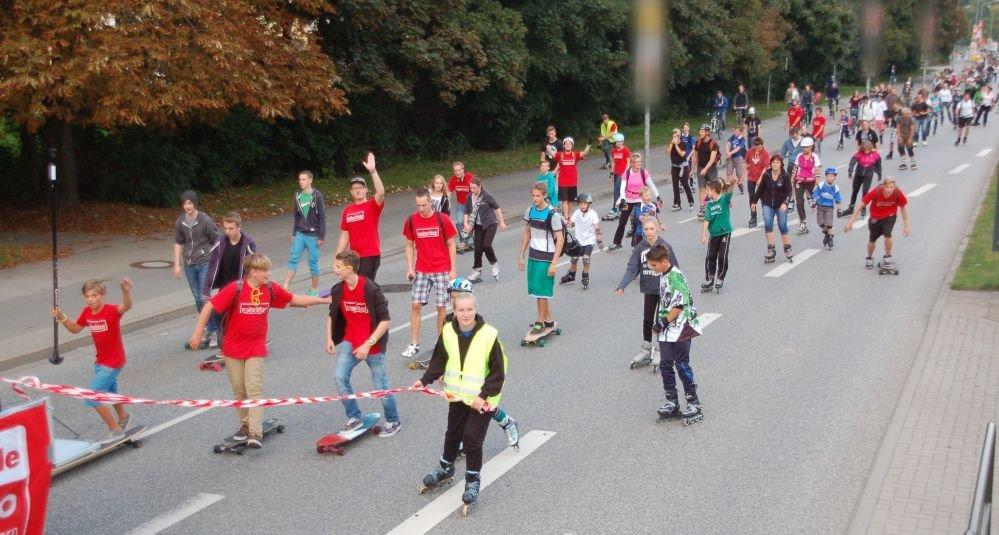 Rostock rollt zur 15. Rostocker Skaternight 2013