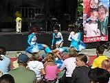 Brunnenfest 2003 • Stadtteilfest Rostock Lichtenhagen • Blue White Swatti Girls