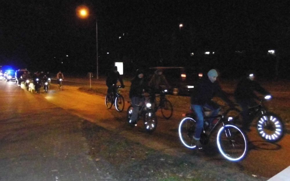 Rostocker Critical Mass - winterliche Stadtrundfahrt am 27. Dezember 2014