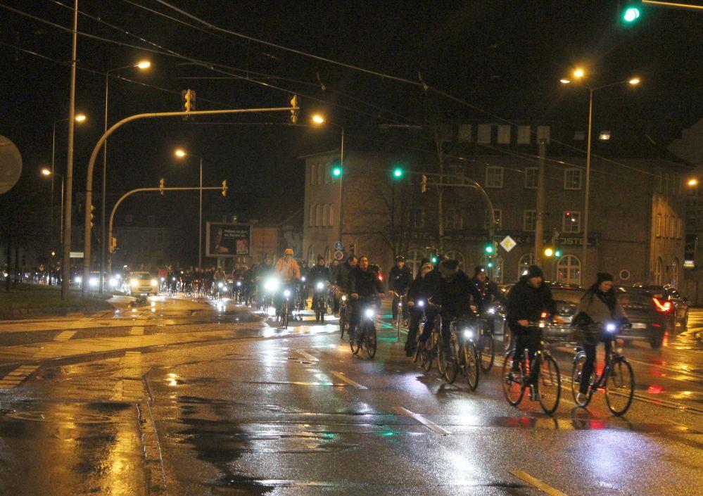 Rostocker Critical Mass - Weihnachts-Stadtrundfahrt am 27. Dezember 2015