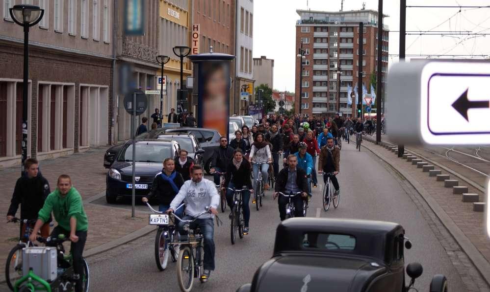 Rostocker Critical Mass - Frühlings-Stadtrundfahrt am 29. Mai 2015