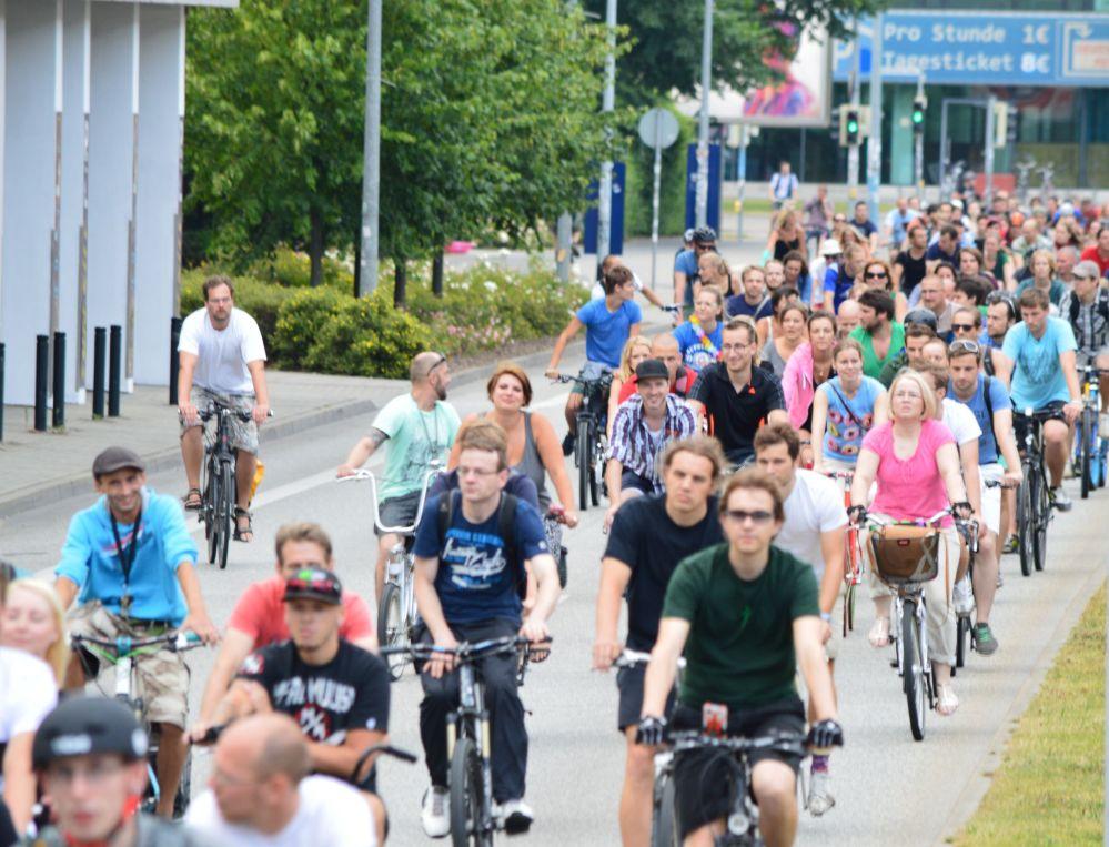 Critical Mass in Rostock - Stadtrundfahrt am 25. Juli 2014