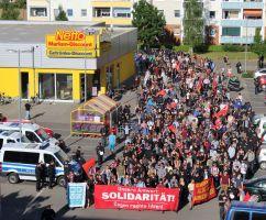 Demo Gemeinsam gegen Rassismus in Rostock - Groß Klein am 11.06.2016