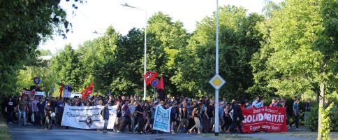 Demonstration Grenzenlose Solidarität statt Rassismus in Rostock - Groß Klein am 11.06.2016