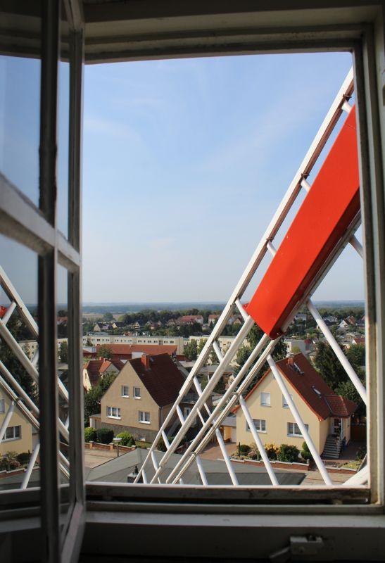 Aussicht von der Galerieholländer-Windmühle in Kröpelin am Tag des offenen Denkmals 2016