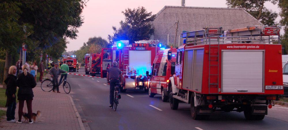 Chemiebrand bei der Entsorgungsgesellschaft EMV für Mecklenburg Vorpommern in Bargeshagen bei Rostock
