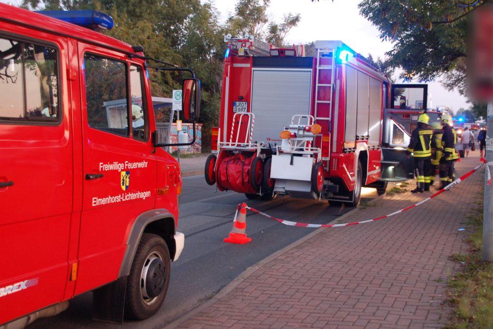 Gefahrgutbrand bei der EMV Entsorgungsgesellschaft für Mecklenburg Vorpommern in Bargeshagen bei Rostock