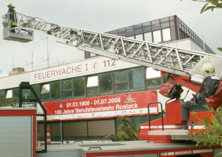 1. Juli 2008 - 100 Jahre Berufsfeuerwehr Rostock