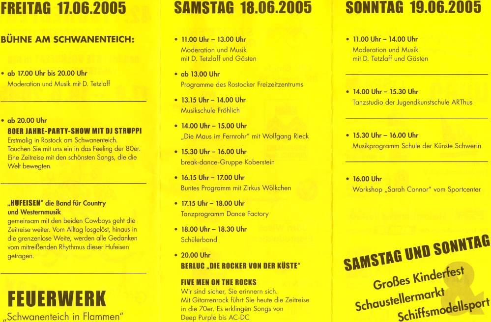 Programm Fischerfest 2005