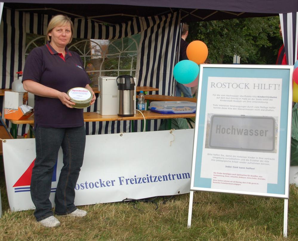 Rostocker Spendenaufruf zu Gunsten der Kindertagesstätte Kinder(t)räume auf dem Gut Gimritz in Halle an der Saale