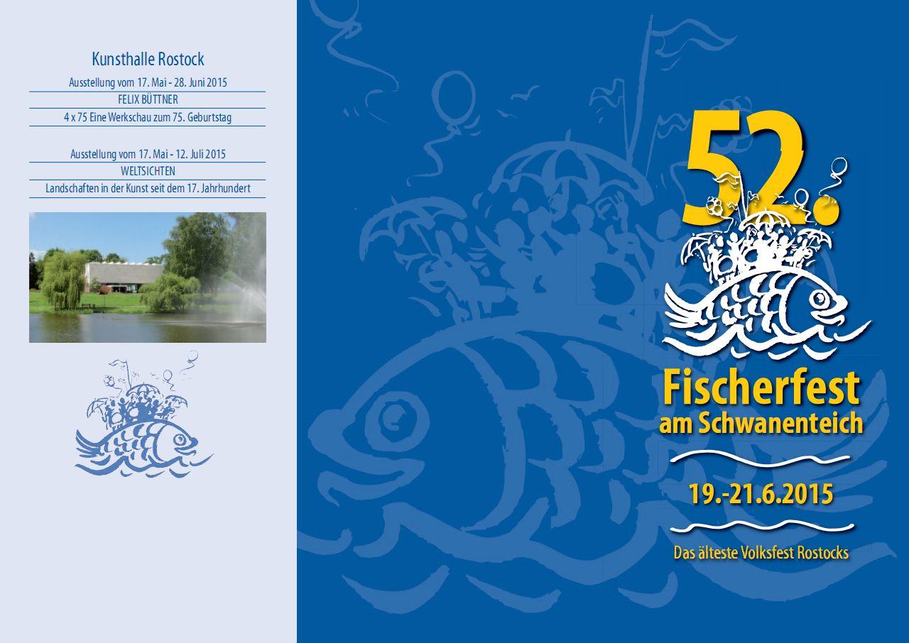 Programm Fischerfest 2015 in Rostock Reutershagen am Schwanenteich