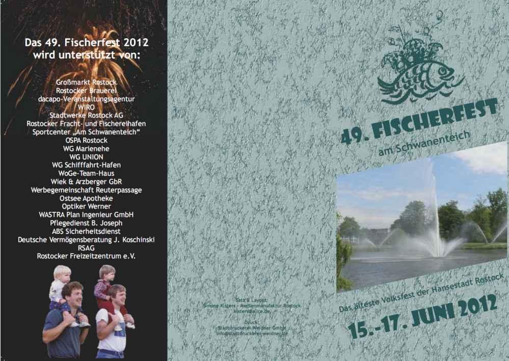 Programm Fischerfest Rostock 2012