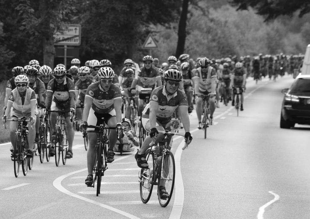 Fahrrad-Langstrecken-Spendenfahrt Hanse-Tour-Sonnenschein 2014 - Durchfahrt Bad Doberan