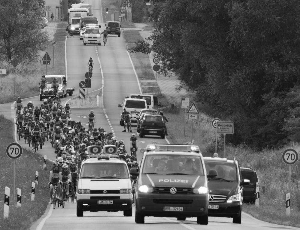Fahrrad-Langstrecken-Spendenfahrt Hanse-Tour-Sonnenschein 2014 - unterwegs im Landkreis Rostock