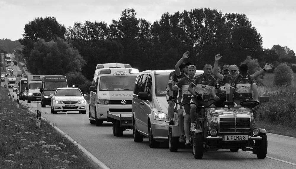 Fahrrad-Langstrecken-Spendenfahrt Hanse-Tour-Sonnenschein 2014