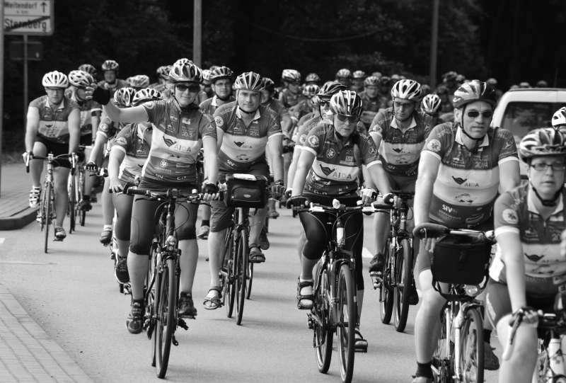 Fahrrad-Langstrecken-Spendenfahrt Hanse-Tour-Sonnenschein 2014 - Ankunft in Sternberg