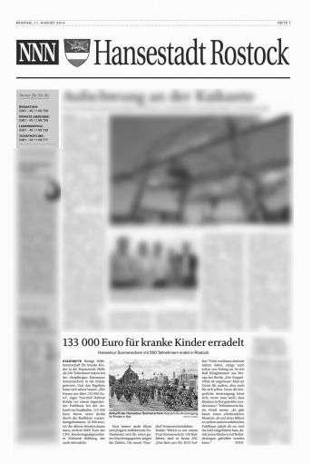 Zeitungsbericht zur Hanse-Tour-Sonnenschein 2014