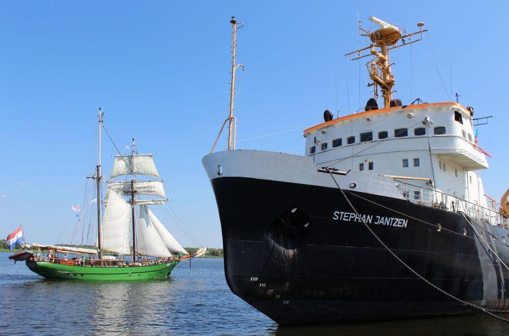 25. Hanse Sail 2015 - der erste Tag der Silber-Sail