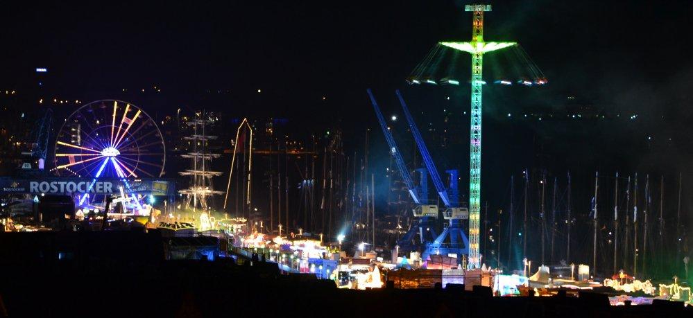 Hanse Sail Rostock - Stadthafen nach dem Feuerwerk