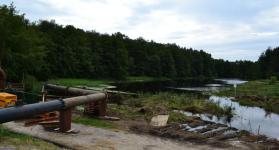 Deichdurchbruch als Hochwasserschutzmaßnahme in Graal-Müritz