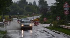 Überschwemmungen durch Regen-Hochwasser in Rostock und Umgebung