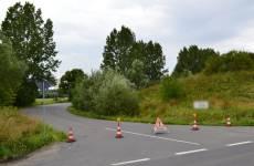 Überflutung durch Regen-Hochwasser in Rostock - Hinrichsdorf