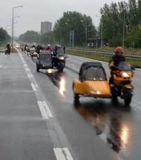 Jumbofahrt Mecklenburg 2003 * Stadtautobahn Rostock kurz vor der IGA