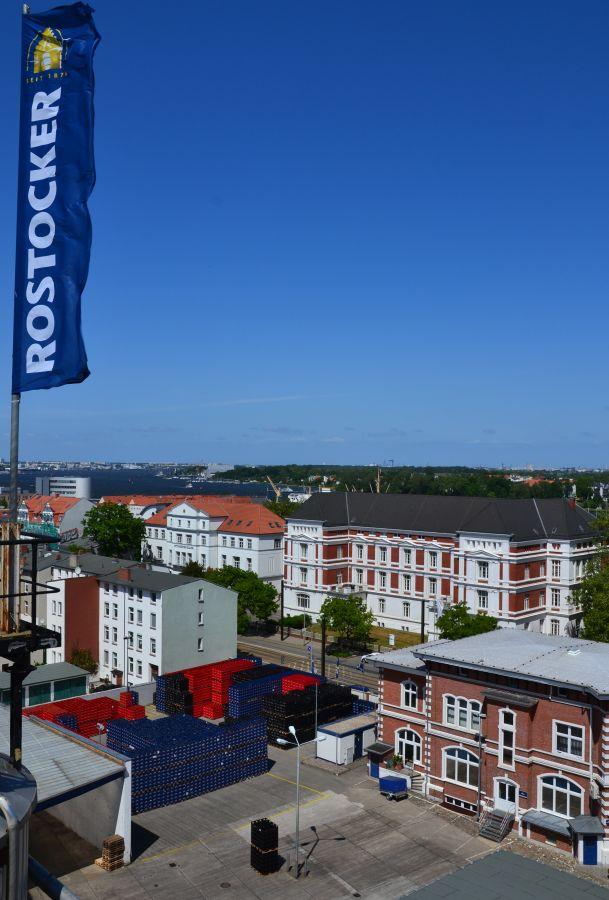 Rostocker Brauerei - Blick über die Dächer der KTV