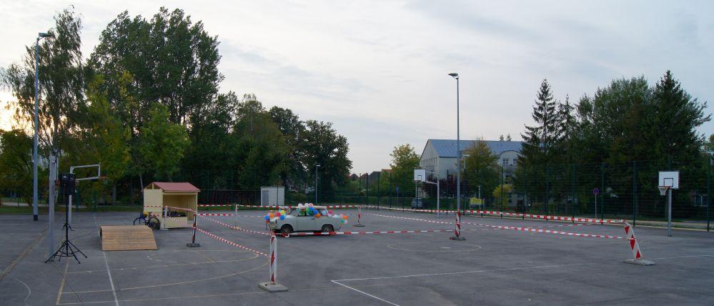 Trabi-Stoßen 2010 in Tessin bei Rostock