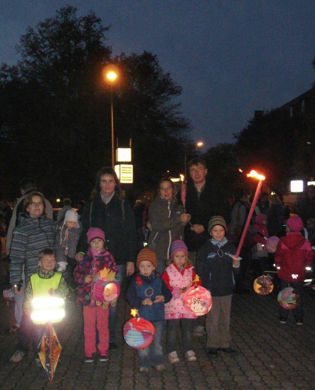 6. Lampion- und Fackelumzug 2014 im Hansaviertel der Hansestadt Rostock