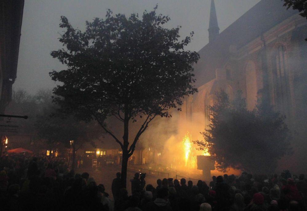 Lange Nacht der Museen 2014 - Kulturhistorisches Museum Rostock - Feuerwerk