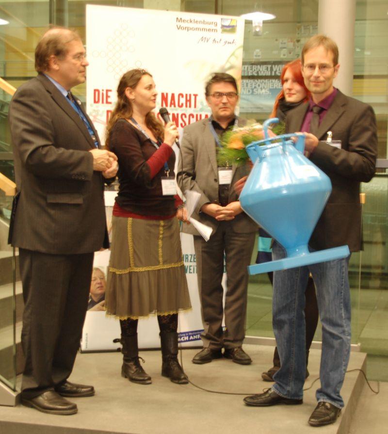 Preisträger des Kommunikationswettbewerbes für hervorragende Wissensvermittlung - Lange Nacht der Wissenschaften 2013 in der Hnasestadt Rostock