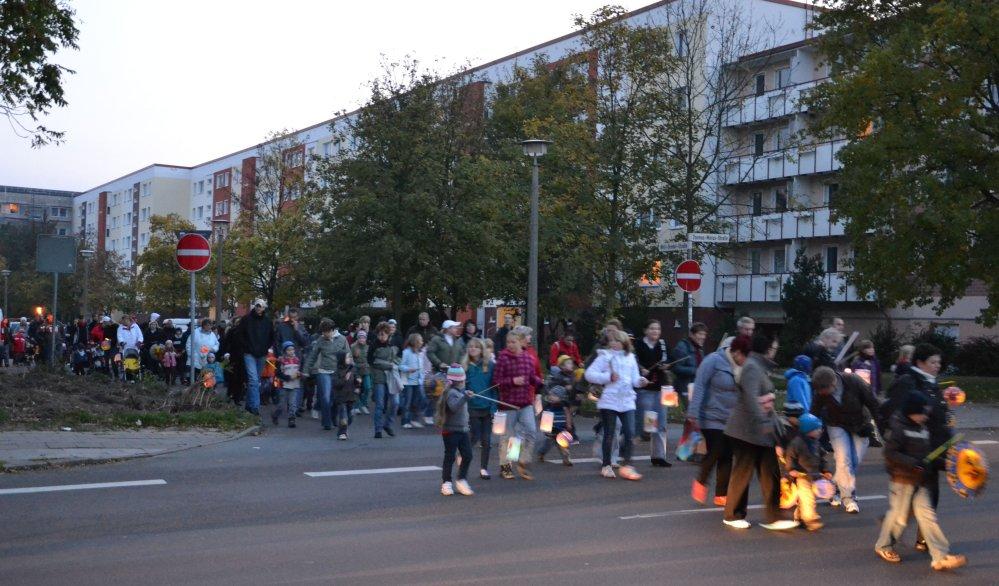 Laternenumzug von Evershagen zum Fischerdorf