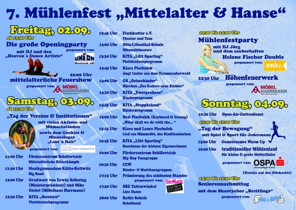 Programm Mühlenfest 2011