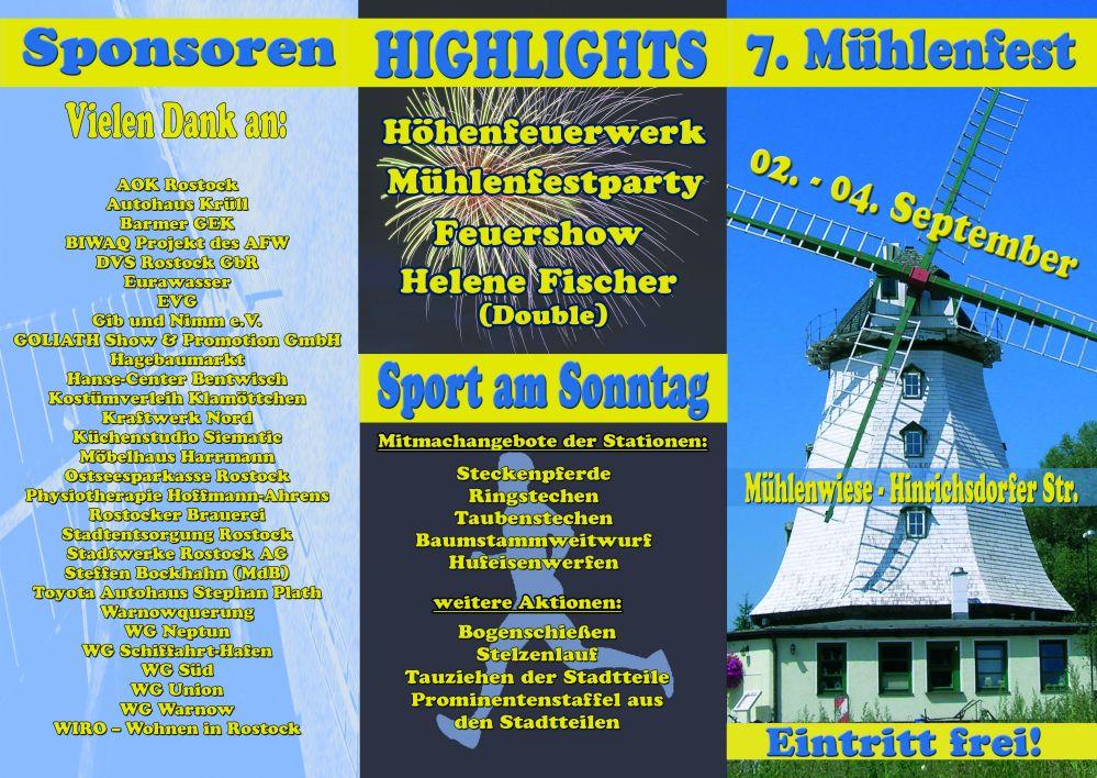 Programm-Übersicht Mühlenfest 2011