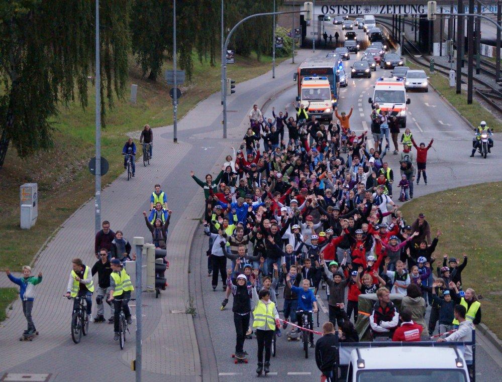 Rostock rollt zur Skaternight Rostock 2012