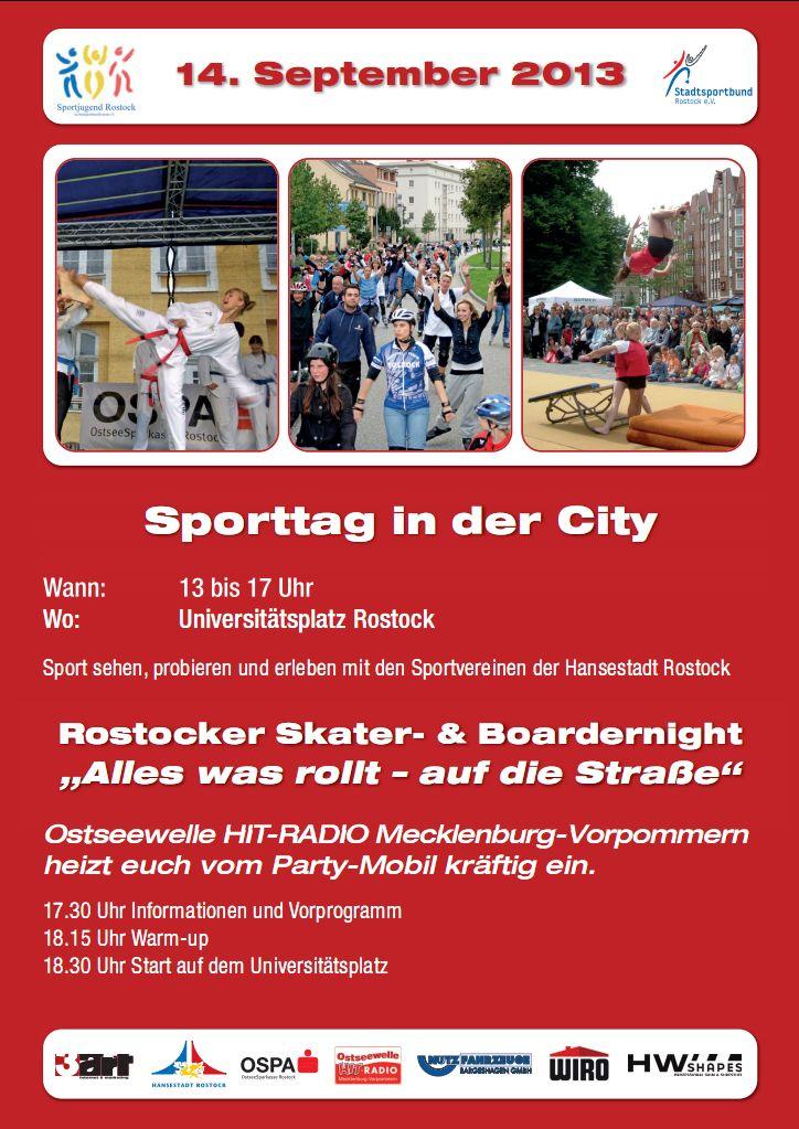 Einladung zur Rostocker Skater- & Boardernight 2013