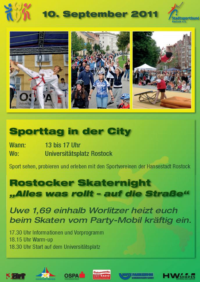 Sporttag mit Skaternacht in Rostock