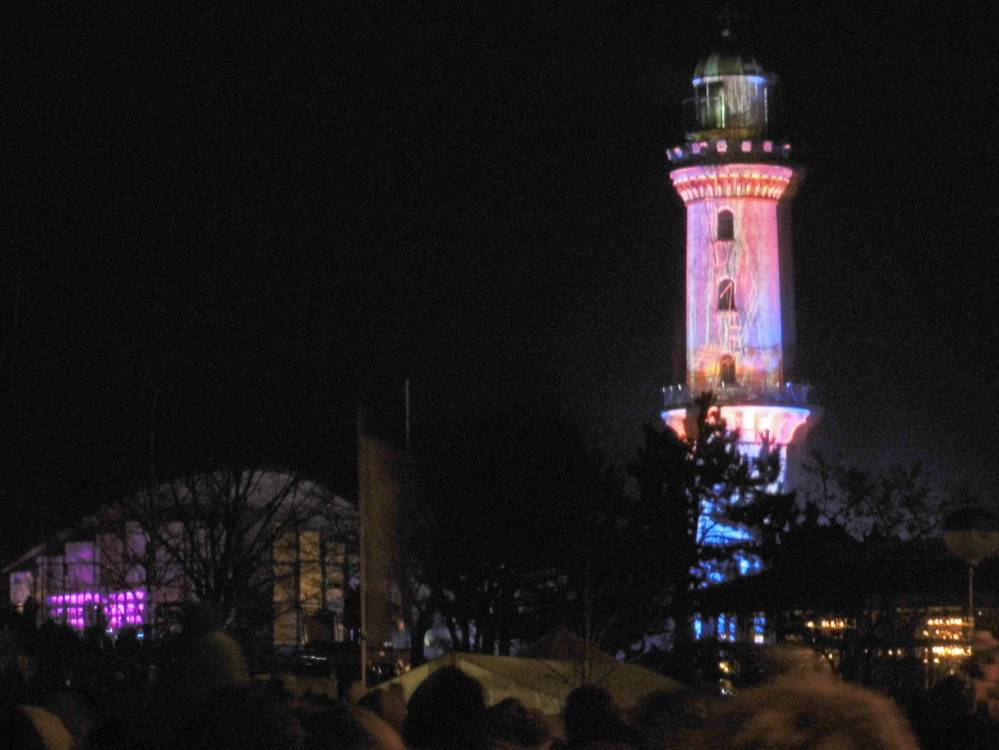 Warnemünder Turmleuchten 2015 am Rostocker Strand