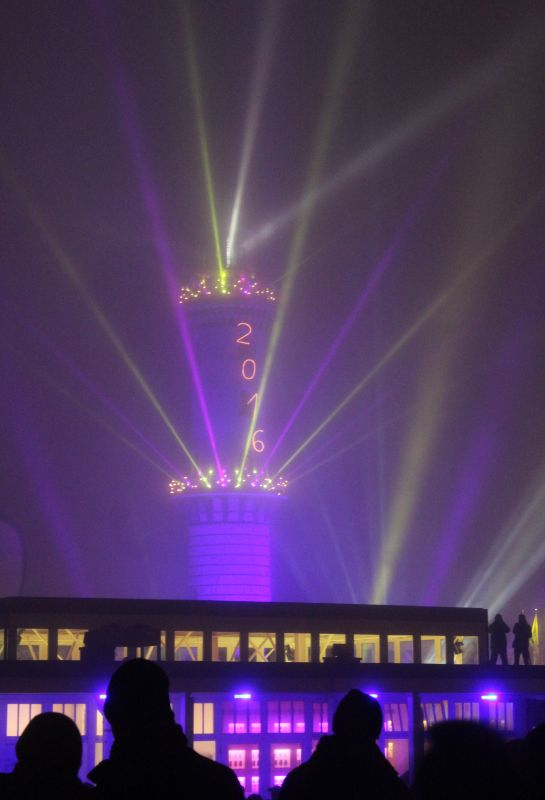 Warnemünder Turmleuchten 2016 am Rostocker Strand
