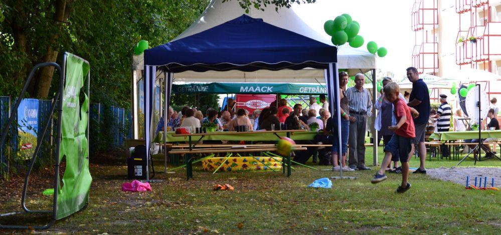 Sommerfest 2012 für Mieter der WG Warnow in Rostock - Reutershagen